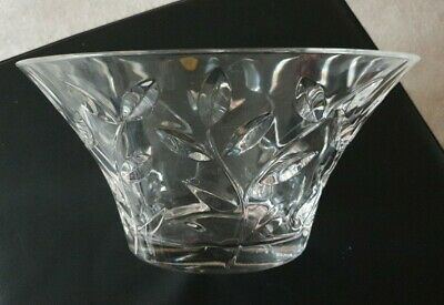 24% LEAD CRYSTAL CUT GLASS BOWL 24cm ROYAL CRYSTAL ROCK MADE IN ITALY 1.75kg • 4£
