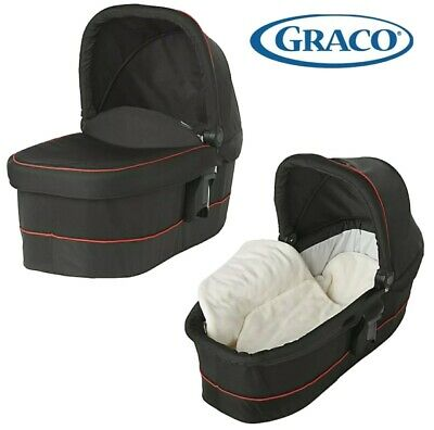 Graco Evo XT Baby Carrycot Black With Red Piping New In Box Fits Travel System • 15£