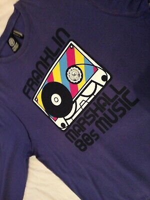 Franklin Marshall 80s Music Cassette Tape Purple Top XL • 10.30£