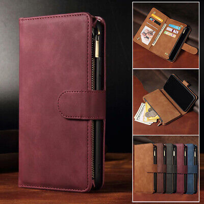 AU16.99 • Buy For IPhone 12 11 Pro Max Mini XS XR 7 8 Plus Case Wallet Leather Card Flip Cover