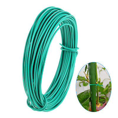 £4.89 • Buy 15m Plant Twine Green Soft Flexible Bendy Garden Support Wire Cable Twist Tie