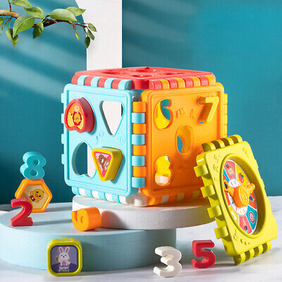 £6.26 • Buy Number And Shape Blocks Cube Early Sensory Toys For 1-2 Years Old