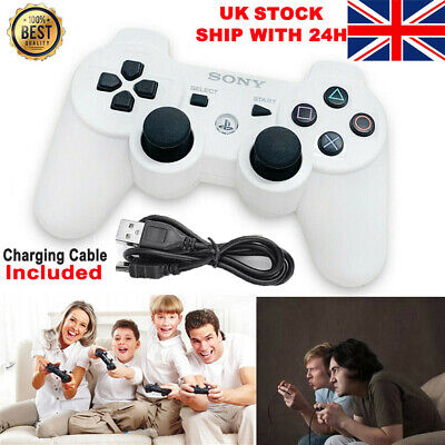 PS3 Wireless DualShock 3 Game Controller GamePad For PlayStation 3 White • 10.59£