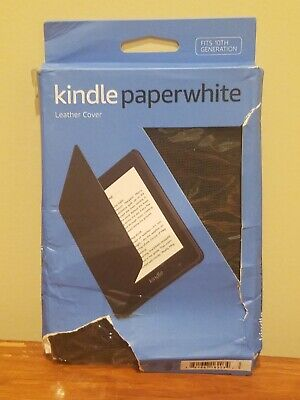 AU13.11 • Buy Amazon Kindle Paperwhite Leather Cover Case - Fits 10th Generation - Black
