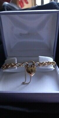 AU400 • Buy 9ct Yellow Gold Padlock Bracelet-only Worn Once, Like New, Comes In Original Box