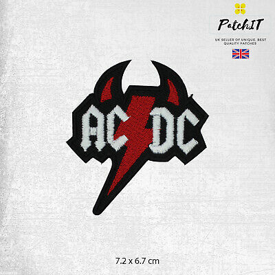 £1.99 • Buy AC/DC Music Band Logo Patch Iron On Sew On Badge Embroidered Patch