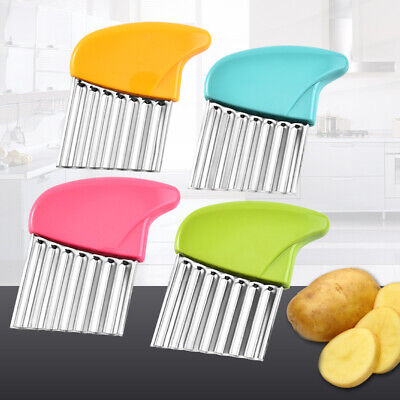 £2.89 • Buy Stainless Steel Potato Chip Salad Vegetable Crinkle Cutter Kitchen Cutting Tool