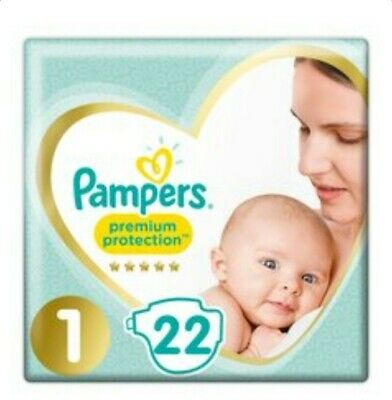 £9.99 • Buy Pampers Nappies Newborn Size 1 New Baby Premium Protection Pack Of 22