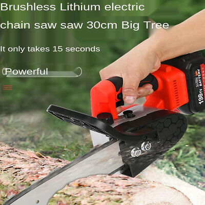 £156.63 • Buy Electric 12  Inch Mini Chainsaw Gardening Tools Felling Cutting Trees Household