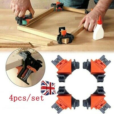 £7.29 • Buy 4Pcs Woodworking 90° Right Angle Corner Clamp Clip Frame Working Holder Tools UK