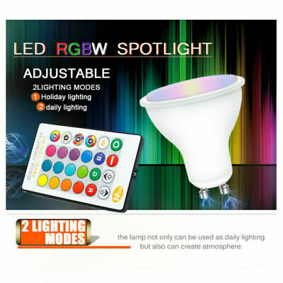 £14.99 • Buy 4 X GU10 5W 16 Color Changing RGB Dimmable LED Light Bulbs Lamp RC Remote Spot