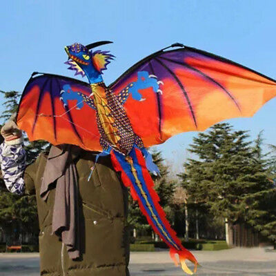 AU32.82 • Buy Fun Toys For Kids Play - 3D Dragon With Tail Kite Large Line Outdoor Flying Game