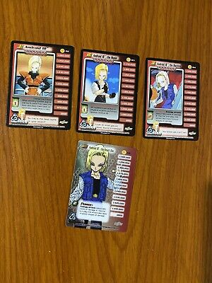 AU69.99 • Buy Dragon Ball Z DBZ CCG Cell Saga Android 18 Level 1-3 + HT Personality Set
