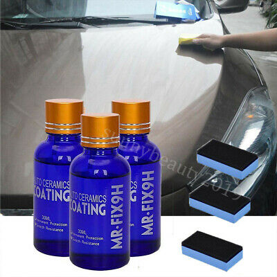 $15.93 • Buy 3X 9H Nano Ceramic Car Glass Coating Liquid Hydrophobic AntiScratch Auto Care