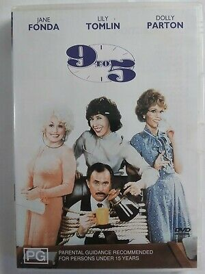 AU14.95 • Buy 9 To 5 1980 DVD Comedy Musical Jane Fonda Lily Tomlin Dolly Parton FREE POSTAGE