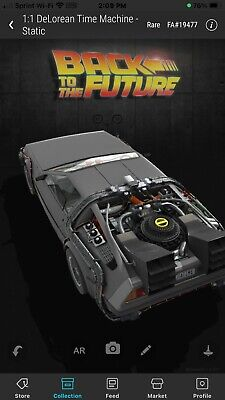 $159.99 • Buy Veve Nft Back To The Future (rare) Delorean 1:1 Scale Collectable
