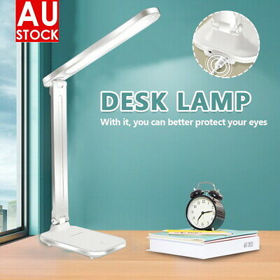 AU15.90 • Buy Touch LED Desk Lamp Bedside Study Reading Table Light USB Ports  Dimmable AU