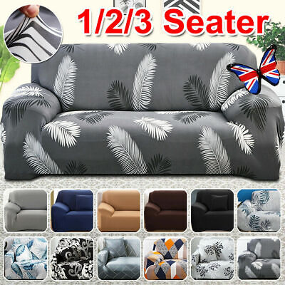 AU16.14 • Buy Sofa Covers 1/2/3/4 Seater High Stretch Lounge Slipcover Protector Couch Cover