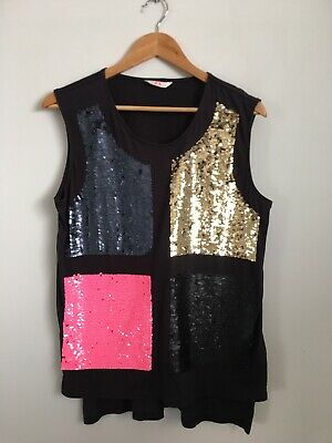 AU21.50 • Buy Sass & Bide Playman Sequin Tank Top XS