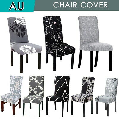 AU19.99 • Buy 1-8 PCS Dining Chair Covers Spandex Slip Cover Stretch Wedding Banquet Party AU