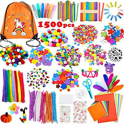£23.45 • Buy 1500 Pieces Arts And Crafts Box DIY Crafting Set Kit Children Kids Gift Age 4-12