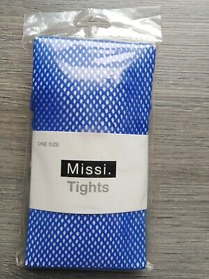 Missi Blue Net Tights - One Size • 4£