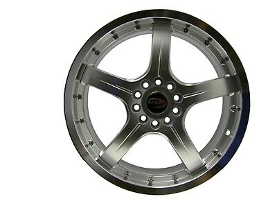AU114.82 • Buy 18  Evoke F8 Style Alloy Wheels 5 Lug Pcd (100/114.3) Hyper Silver  Single Piece