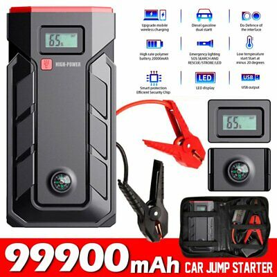 AU55.76 • Buy 99800mAh Car Jump Starter Power Bank Pack Vehicle Charger Battery Engine Booster