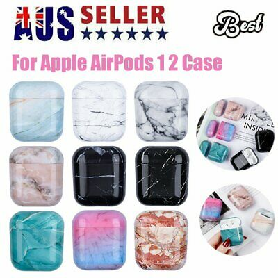 AU9.96 • Buy For Apple AirPods 1 2 Case Marble Cover Protective AirPod Earphone Headset Skin