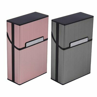 Metal Cigarette Case Aluminum Tobacco Holder Storage Container Pocket Box • 6.09£