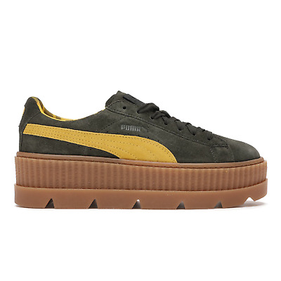 AU89.98 • Buy Puma Fenty By Rihanna Cleated Creeper Lace Up Suede Women Trainers 366268 01