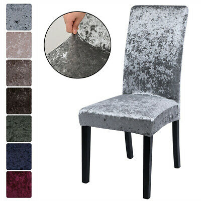£5.99 • Buy Soft Crushed Velvet Dining Chair Covers Stretchable Protection Slipcover Decor