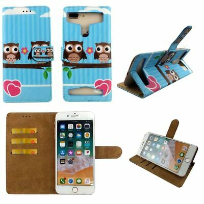 AU14.38 • Buy Premium Leather Mobile Phone Owl Wallet Book Case For Samsung Galaxy J6 - XL