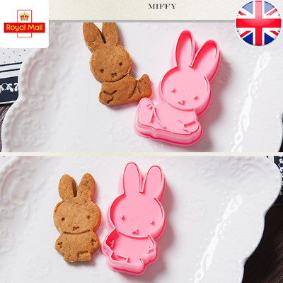 £5.99 • Buy Miffy Cookie Cutters Rabbit Shapes Cute Set Of 2 Cartoons Cake Fondant Mould UK