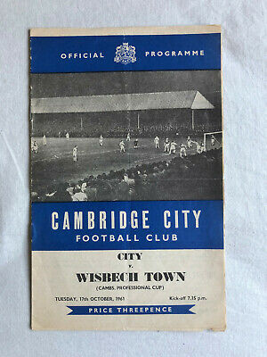 £0.99 • Buy 1961 - 1962  Cambridge City  V  Wisbech Town  Cambs. Professional Cup