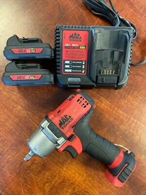 $200 • Buy Mac Tools 12v Impact Driver W/ Charger & 2 Batteries Bwp038 (vp4000981)