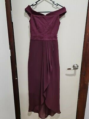 AU14.50 • Buy FOREVER NEW Elsie Burgundy Off Shoulder Maxi Dress Size 6