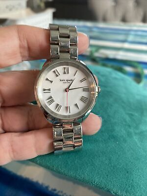 $ CDN50.13 • Buy Kate Spade Watch KSW1065 Silver/white Face Roman Numerals New Battery Works
