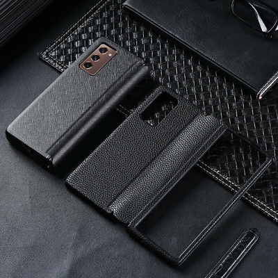 AU28.23 • Buy For Samsung Galaxy Z Fold 2 5G Luxury Flip Leather Cover Business Matte Case