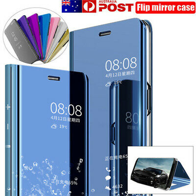 AU12.69 • Buy For OPPO A91 A15 Find X3 X2 Pro A52/A72 A73/A53/A72 Mirror Case Stand Flip Cover