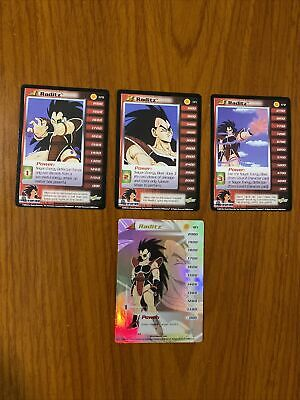 AU29.99 • Buy Dragon Ball Z DBZ CCG Saiyan Saga Raditz Level 1-3 + HT Personality Set