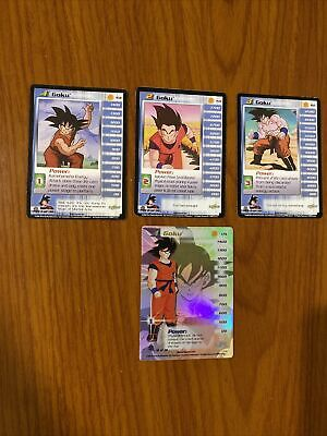 AU49.99 • Buy Dragon Ball Z DBZ CCG Saiyan Saga Goku Level 1-3 + HT Personality Set