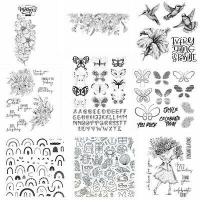 £3.29 • Buy Mother's Day Flowers Butterfly Clear Rubber Stamps Seal Scrapbooking Craft Cards