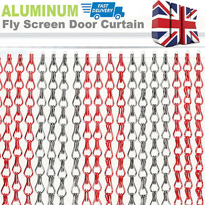 214x90CM Aluminum Door Curtain Metal Chain Fly Insect Blinds Screen Pest Control • 34.99£