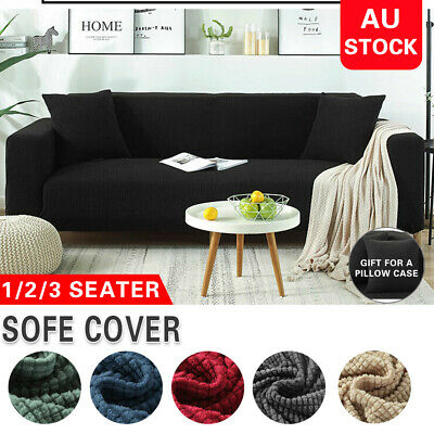 AU14.89 • Buy High Stretch Sofa Cover Couch Lounge Protector Slipcovers 1/2/3/4 Seater Covers