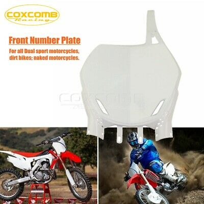 $17.99 • Buy Plastic Front Number Plate For CRF100F 150R XR100 YZF WRF CR KX KXF RM RMZ White