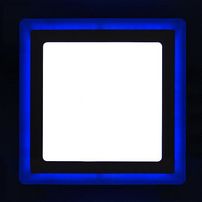 £14.99 • Buy 18w LED SQUARE Recessed Ceiling Panel 2 In 1 Colour Cool White & Blue Spotlight