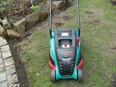 BOSCH ROTAK 370 LI LAWNMOWER Complete With Charger Grass Box & Battery • 195£