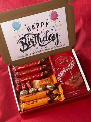 £7.95 • Buy Lindt Chocolate Gift Box | Chocolate Personalised Hamper | Lindor Lint Present