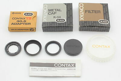$ CDN501.27 • Buy [Top MINT All Black]  Contax T3 30.5 Adapter P-Filter Hood K-34 Lens Cap JAPAN